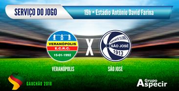 bd8e14f9560 SERVIÇO DO JOGO  Veranópolis x São José - São José FC